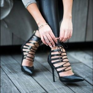 Steve Madden STS Gladiator Leather Lace Up Heels